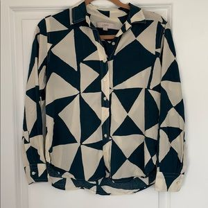 Loft Geometric Pattern Button Down